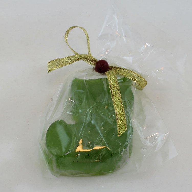 Χριστουγεννιάτικo σαπούνι Μπότα με άρωμα White Musk (Πράσινο)