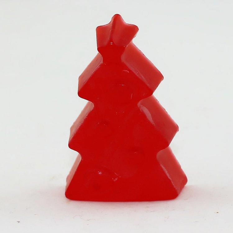 Χριστουγεννιάτικo σαπούνι Δέντρο με άρωμα Πούδρα (Κόκκινο)
