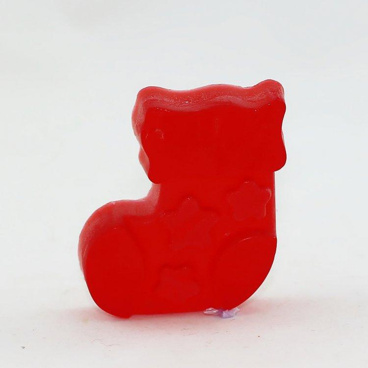 Χριστουγεννιάτικo σαπούνι Μπότα με άρωμα Πούδρα (Κόκκινο)