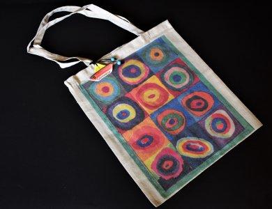 """Υφασμάτινη οικολογική τσάντα  """"Η τέχνη μέσα από τα μάτια μας"""""""