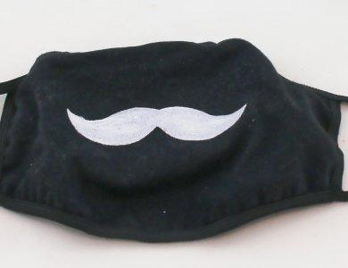 Μάσκα προστασίας - Μουστάκι (Μαύρη)